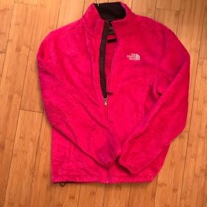 THE NORTH FACE Fuzzy Pink Full Zip Up